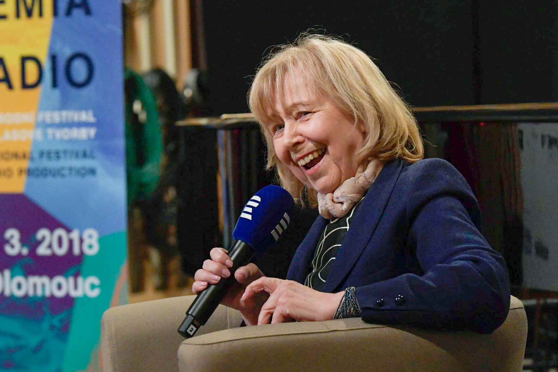 Marie Woodhamsová na festivalu Prix Bohemia Radio
