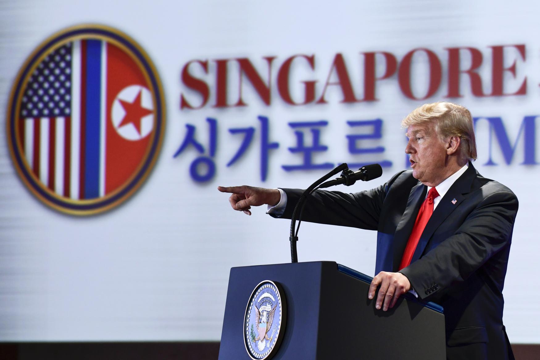 Donald Trump v Singapuru