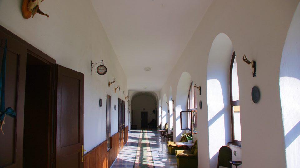 Unikátní prosklené arkády zámku