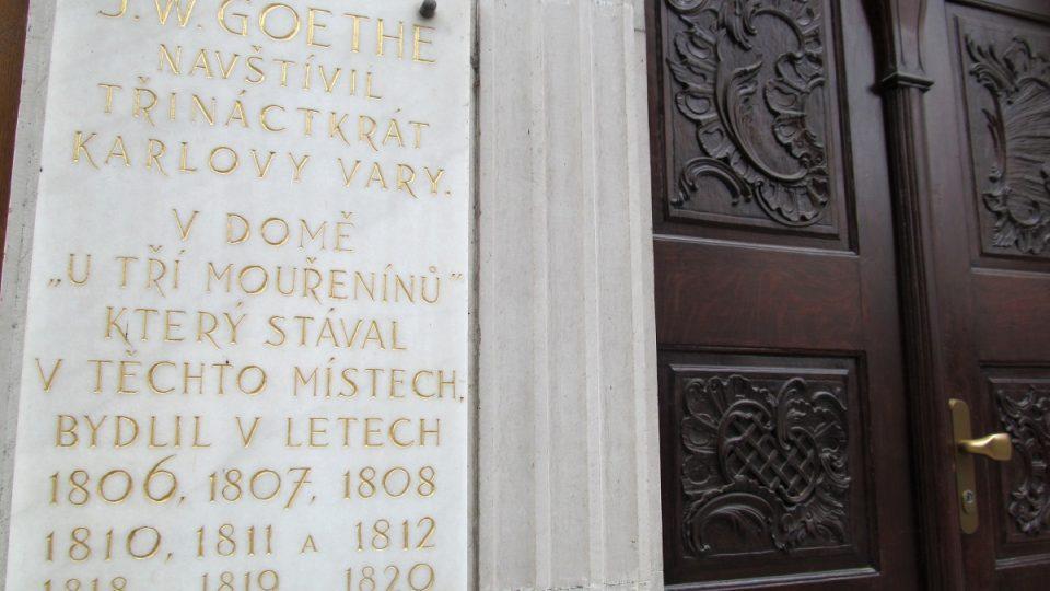 Dům U Tří mouřenínů - Goethe tu skutečně byl