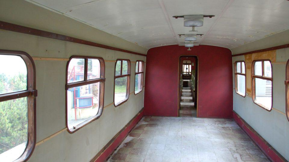 Prázdný oddíl pro cestující