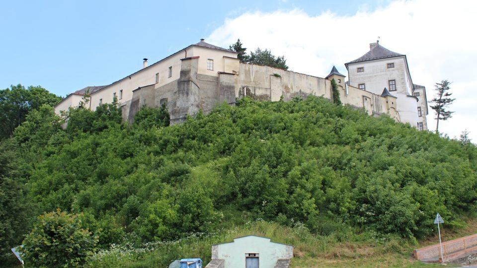 Pohled na úsovský hrad