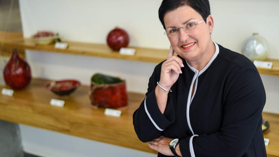 Bronislava Paučková v centru Art Rubikon