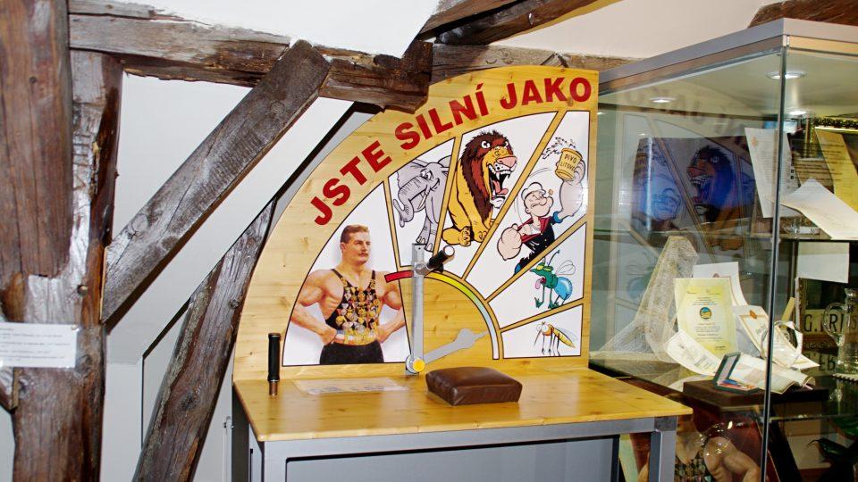 Páku s Gustavem Frištenským si můžete dát jen tady v muzeu.JPG