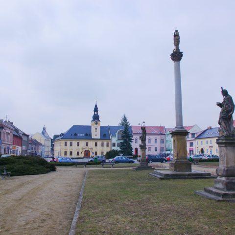Kojetín - celkový pohled na náměstí v Kojetíně