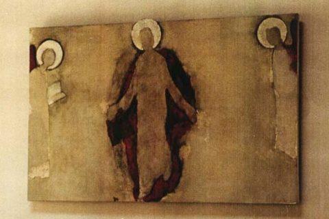 Vzkříšení Krista, 2002, Kaple Vratislavice, olej na platne