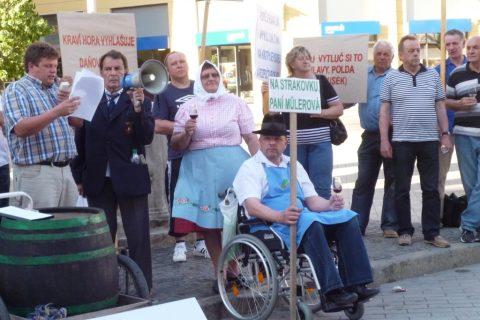 Recesisté protestovali proti novému zdanění vína