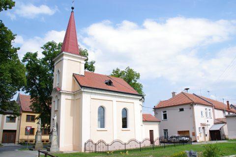 Kelčice - kaple sv. Bartoloměje pochází z počátku 20. století