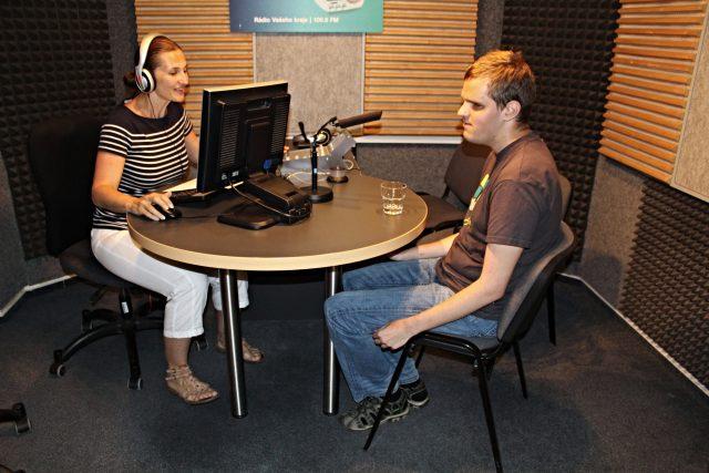 Dita Vojnarová a její host Karel Giebisch