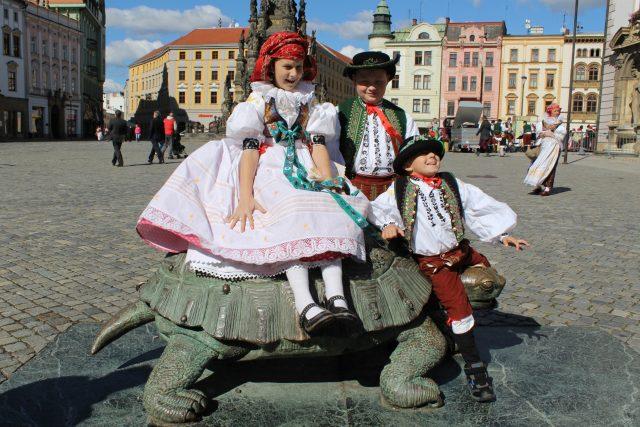 Malí Hanáci na Horním náměstí v Olomouci