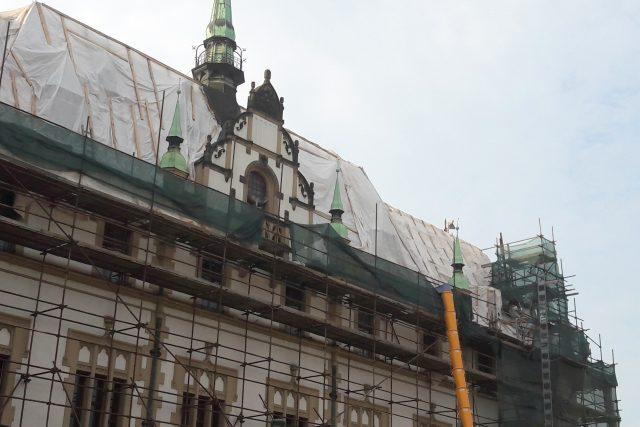Olomoucká radnice, věžičky