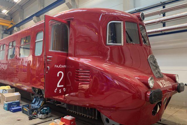 Renovovaný vlak Slovenská strela | foto: Lenka Kratochvílová,  Český rozhlas,  Český rozhlas